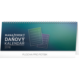 Stolní kalendář Manažerský daňový 2018, 33 x 12,5 cm