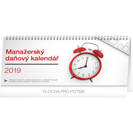 Desk calendar Manager's weekly planner with taxes 2019, 33 x 14,5 cm