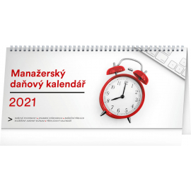 Desk calendar Manager's weekly planner with taxes 2021, 33 × 14,5 cm