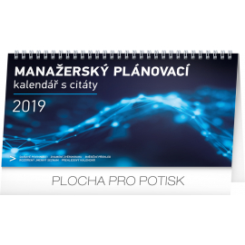 Desk calendar Manager's weekly planner 2019, 25 x 14,5 cm