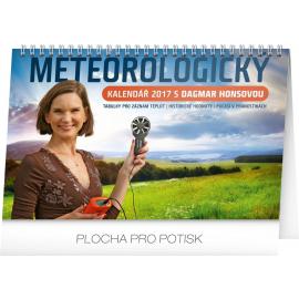 Stolní kalendář Meteorologický s Dagmar Honsovou 2017, 23,1 x 14,5 cm