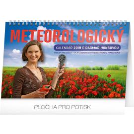 Desk calendar Meteorologický s Dagmar Honsovou 2018, 23,1 x 14,5 cm