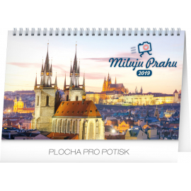 Desk calendar I love Prague 2019, 23,1 x 14,5 cm