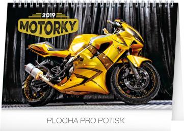 Stolní kalendář Motorky 2019, 23,1 x 14,5 cm