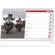 Stolní kalendář Motorky 2021, 23,1 × 14,5 cm
