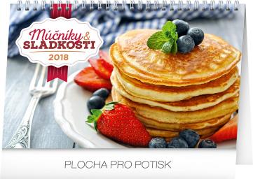 Stolní kalendář Múčniky a sladkosti SK 2018, 23,1 x 14,5 cm