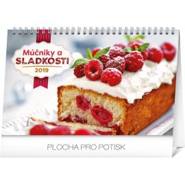 Stolní kalendář Múčniky a sladkosti SK 2019, 23,1 x 14,5 cm