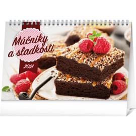 Stolní kalendář Múčniky a sladkosti SK 2021, 23,1 × 14,5 cm