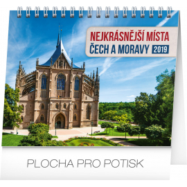 Desk calendar Czech republic and Moravia 2019, 16,5 x 13 cm