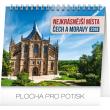 Stolní kalendář Nejkrásnější místa Čech a Moravy 2019, 16,5 x 13 cm