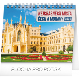 Desk calendar Czech republic and Moravia 2020, 16,5 × 13 cm