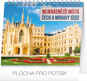 Stolní kalendář Nejkrásnější místa Čech a Moravy 2020, 16,5 × 13 cm