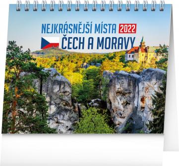 Stolní kalendář Nejkrásnější místa Čech a Moravy 2022, 16,5 × 13 cm