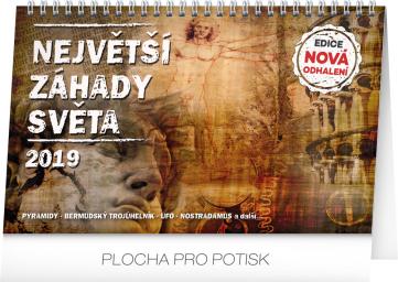 Stolní kalendář Největší záhady světa 2019, 23,1 x 14,5 cm