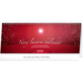 Stolní kalendář Nový lunární kalendář 2018, 33 x 12,5 cm