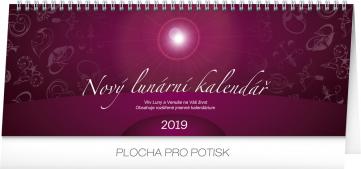 Stolní kalendář Nový lunární kalendář 2019, 33 x 12,5 cm