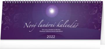 Stolní kalendář Nový lunární kalendář 2022, 33 × 12,5 cm
