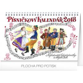 Desk calendar Písničkový kalendář 2018, 23,1 x 14,5 cm