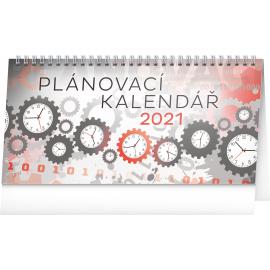 Stolní kalendář Plánovací 2021, 25 × 12,5 cm