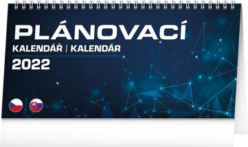 Stolní kalendář Plánovací CZ/SK 2022, 25 × 12,5 cm