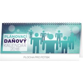 Stolní kalendář Plánovací daňový 2018, 33 x 12,5 cm