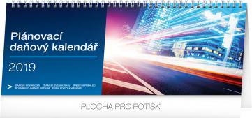 Stolní kalendář Plánovací daňový 2019, 33 x 14,5 cm