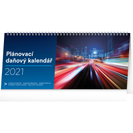 Desk calendar Weekly planner with taxes 2021, 33 × 14,5 cm