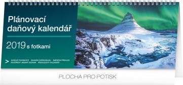 Stolní kalendář Plánovací daňový s fotkami 2019, 33 x 12,5 cm