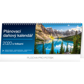 Desk calendar Weekly planner with taxes photographic 2020, 33 × 12,5 cm