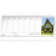 Stolní kalendář Plánovací daňový s fotkami 2022, 33 × 12,5 cm