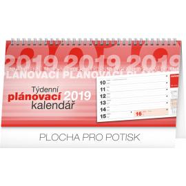 Stolní kalendář Plánovací řádkový 2019, 25 x 12,5 cm