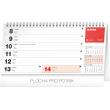 Stolní kalendář Plánovací řádkový 2020, 25 × 12,5 cm