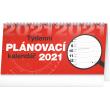 Stolní kalendář Plánovací řádkový 2021, 25 × 12,5 cm