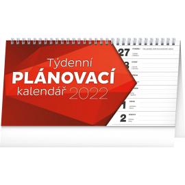 Stolní kalendář Plánovací řádkový 2022, 25 × 12,5 cm