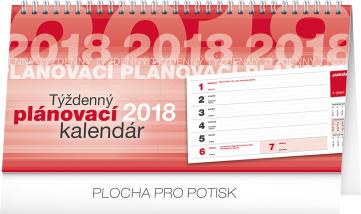 Stolní kalendář Plánovací riadkový SK 2018, 25 x 12,5 cm
