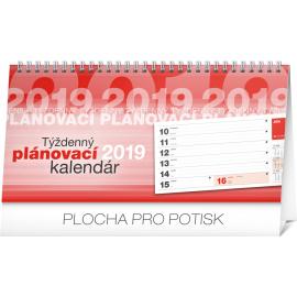 Desk calendar Weekly planner SK lined 2019, 25 x 12,5 cm