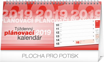 Stolní kalendář Plánovací riadkový SK 2019, 25 x 12,5 cm