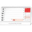 Stolní kalendář Plánovací riadkový SK 2020, 25 × 12,5 cm