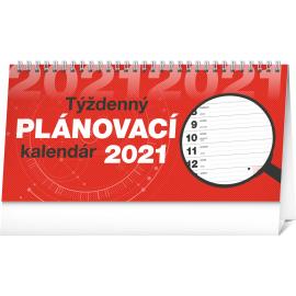 Stolní kalendář Plánovací riadkový SK 2021, 25 × 12,5 cm