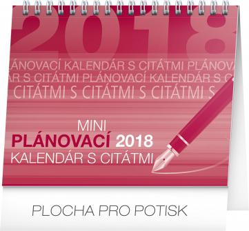 Stolní kalendář Plánovací s citátmi SK 2018, 16,5 x 13 cm
