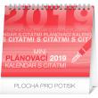 Stolní kalendář Plánovací s citátmi SK 2019, 16,5 x 13 cm