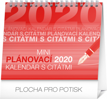 Stolní kalendář Plánovací s citátmi SK 2020, 16,5 × 13 cm