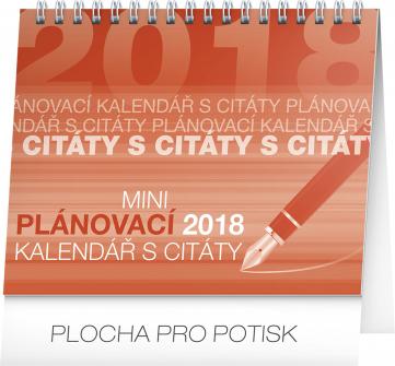Stolní kalendář Plánovací s citáty 2018, 16,5 x 13 cm