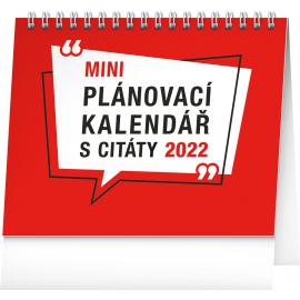 Stolní kalendář Plánovací s citáty 2022, 16,5 × 13 cm