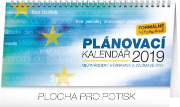 Stolní kalendář Plánovací se světovými dny 2019, 25 x 12,5 cm