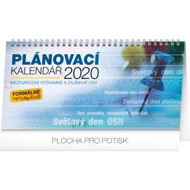 Desk calendar Weekly planner – with international days 2020, 25 × 12,5 cm