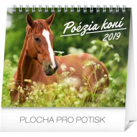 Stolní kalendář Poézia koní SK 2019, 16,5 x 13 cm