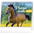 Stolní kalendář Poezie koní 2022, 16,5 × 13 cm