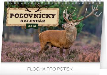 Stolní kalendář Poľovnícky kalendár SK 2018, 23,1 x 14,5 cm