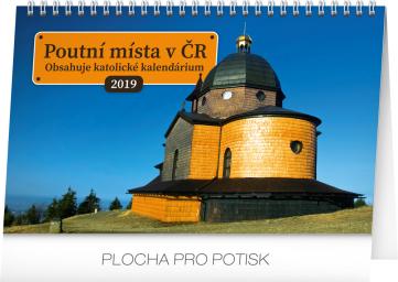 Stolní kalendář Poutní místa v ČR 2019, 23,1 x 14,5 cm